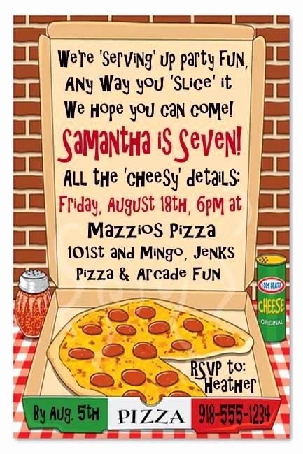 Pizza Party Invites Free Printable Elegant Pizza Party Invite