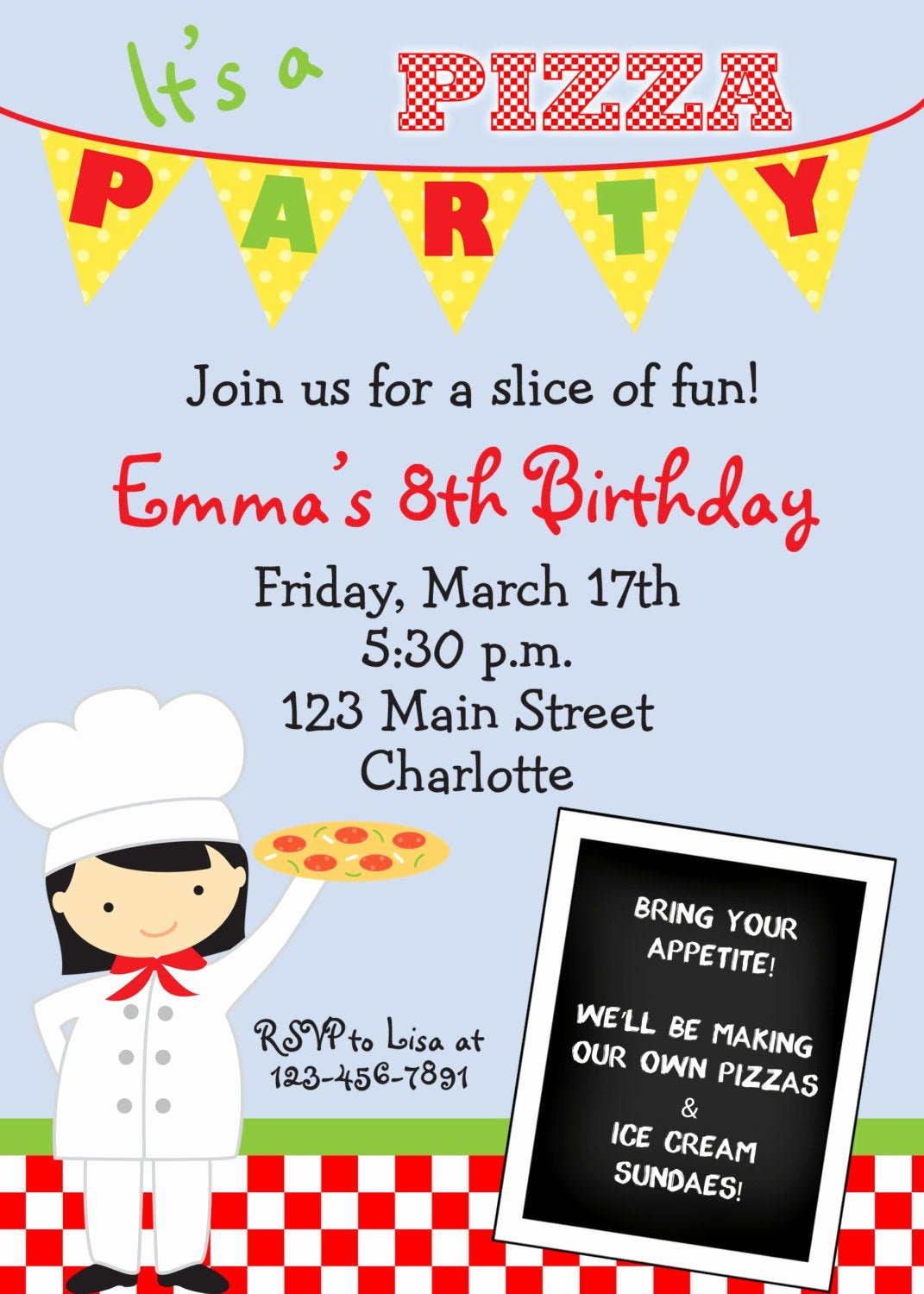 Pizza Party Invites Free Printable Inspirational Item Details