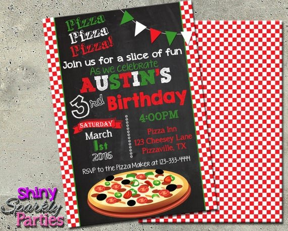 Pizza Party Invites Free Printable Inspirational Pizza Party Invitation Pizza Invitation Pizza Party Invite