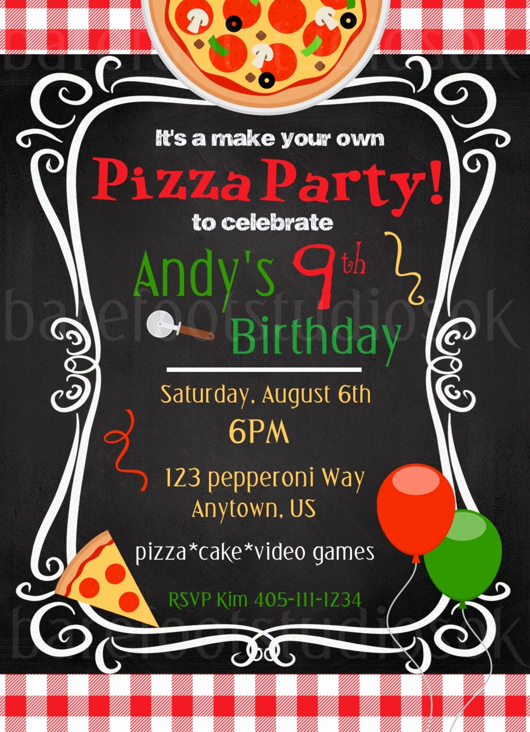 Pizza Party Invites Free Printable Lovely Pizza Party Invitation Pizza Party Printable Birthday