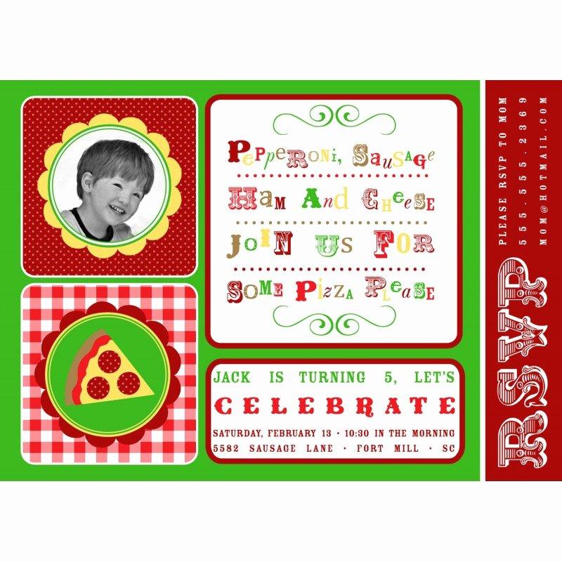 Pizza Party Invites Free Printable Luxury Pizza Party Celebration Birthday Party Printable