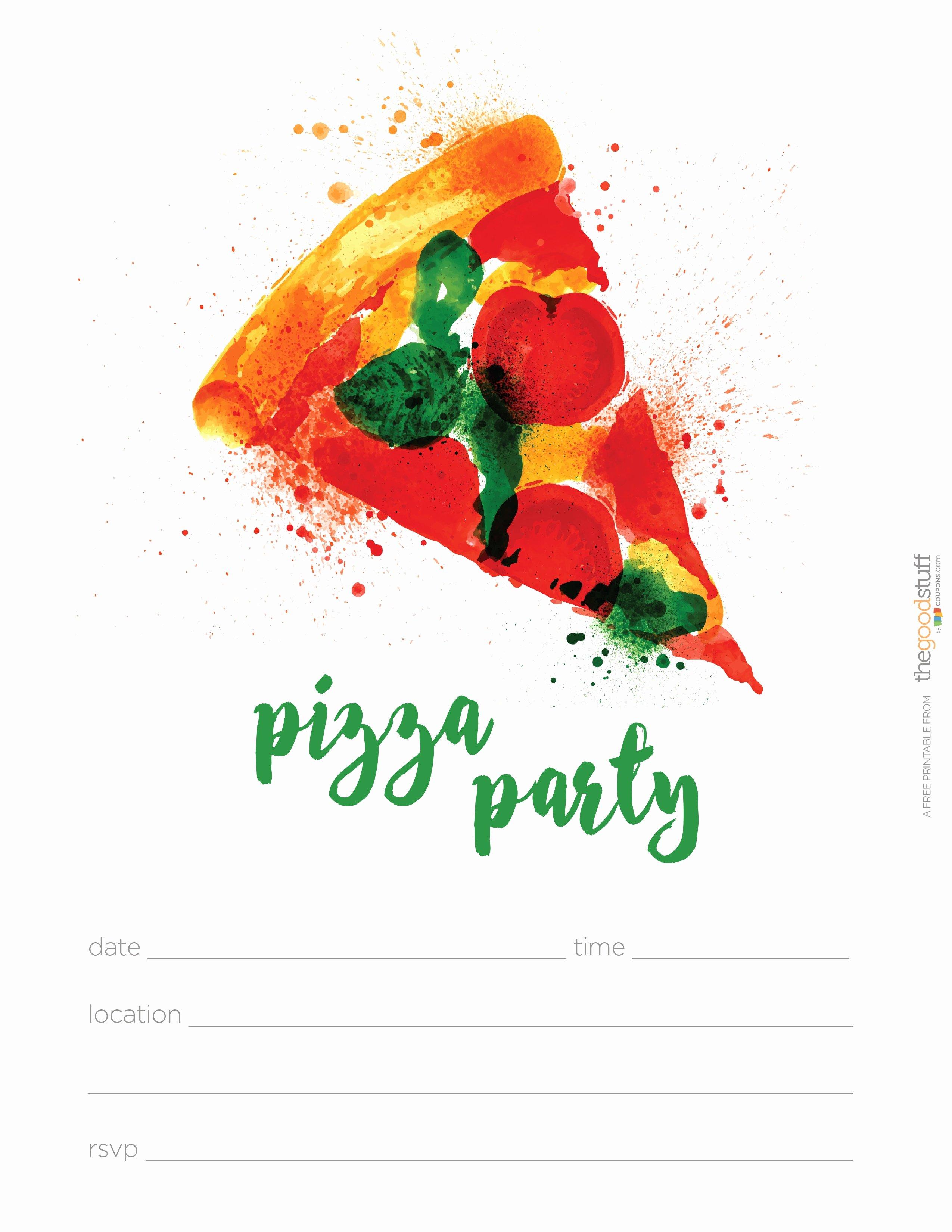 Pizza Party Invites Free Printable New Hostess Helpers Free Pizza Party Printables thegoodstuff
