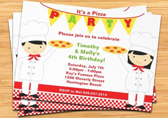 Pizza Party Invites Free Printable New Pizza Birthday Party Invitation Printable
