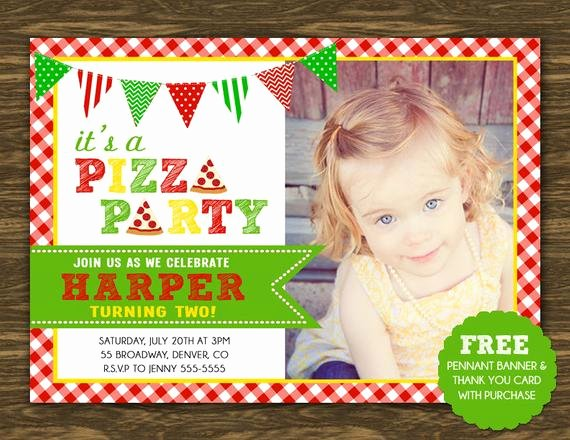 Pizza Party Invites Free Printable New Pizza Party Birthday Invitation Printable Free Pennant