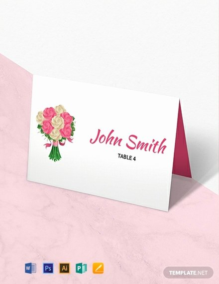 Place Card Templates for Mac Beautiful Free Floral Wedding Place Card Template Download 669