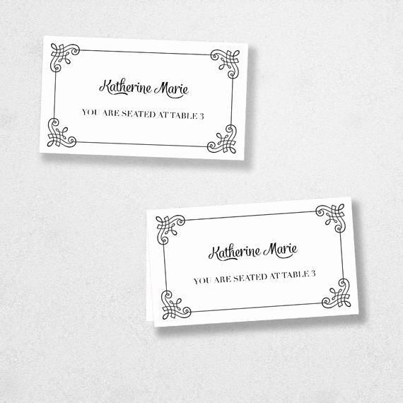 Place Card Templates for Mac Best Of Items Similar to Printable Place Card Template Instant