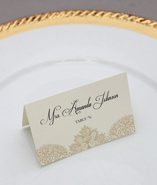 Place Card Templates for Mac Best Of Pearls & Lace Place Cards Template