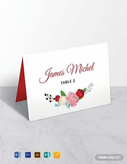 Place Card Templates for Mac Elegant Free Escort Wedding Place Card Template Word