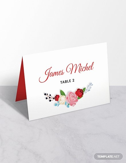 Place Card Templates for Mac Elegant Free Floral Wedding Place Card Template Download 243