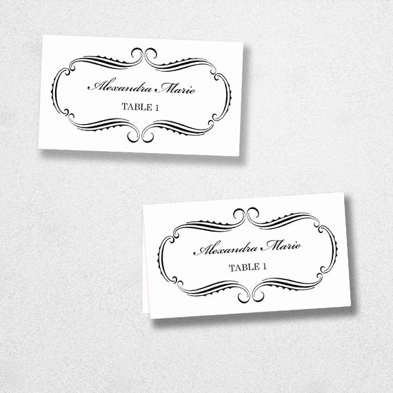 Place Card Templates for Mac Elegant Printable Place Card Template Instant Download Escort Card