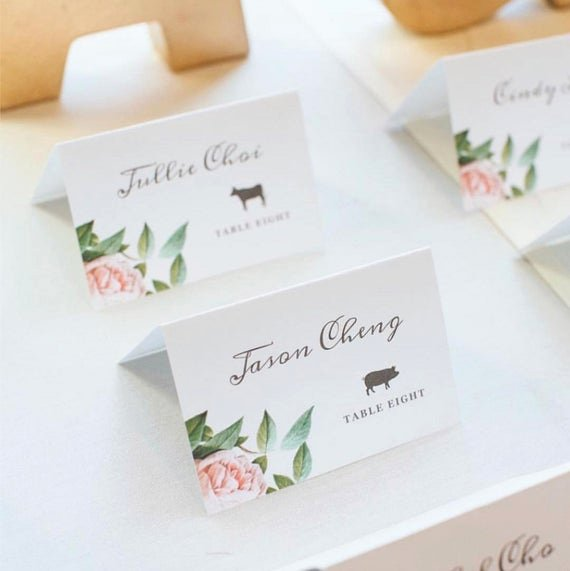 Place Card Templates for Mac Elegant Printable Place Card Template with Bonus Meal Icons
