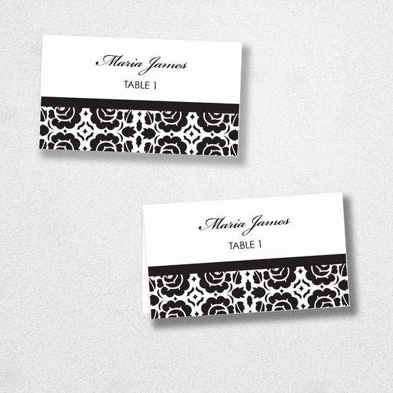 Place Card Templates for Mac Fresh Items Similar to Printable Place Card Template Instant
