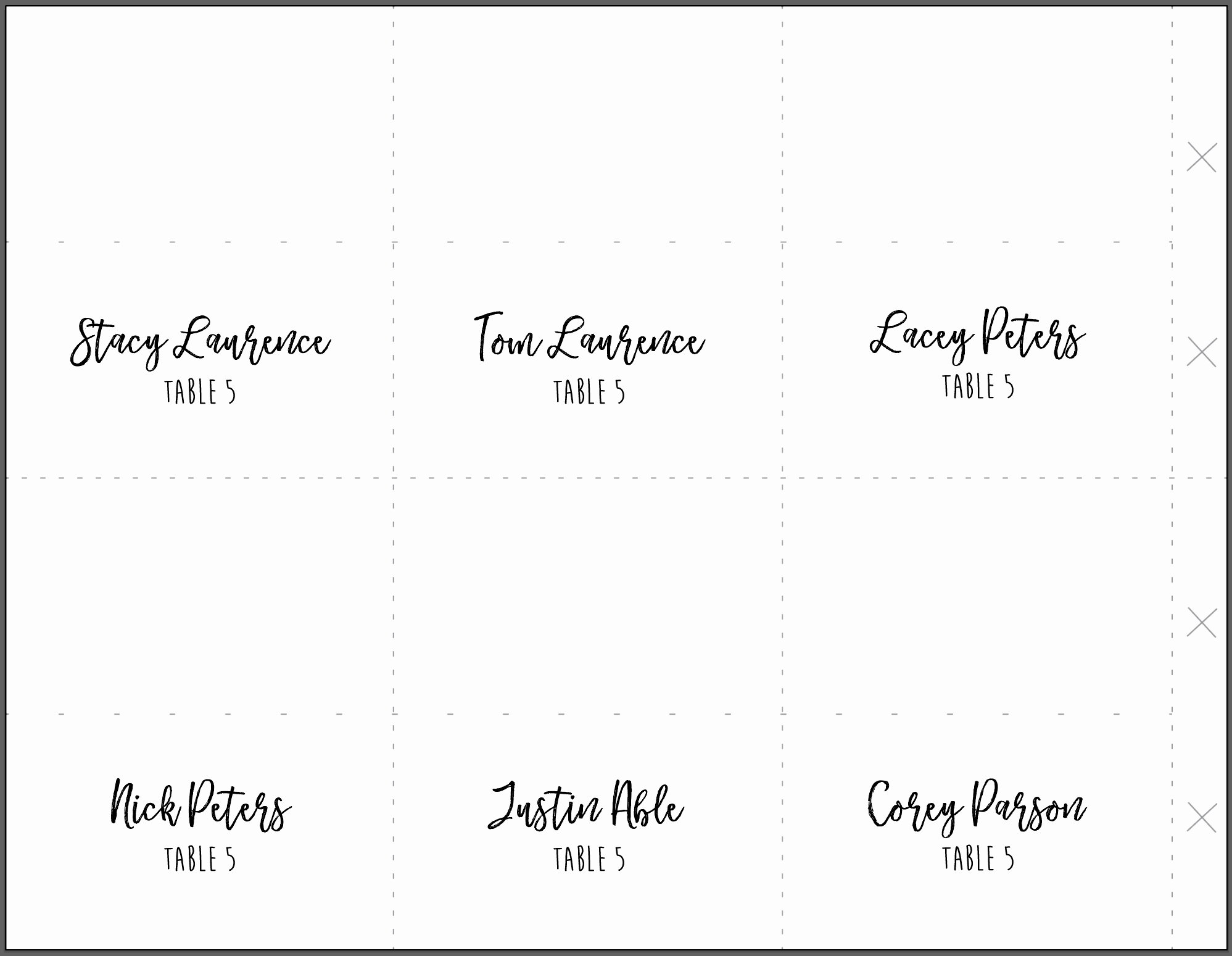 Place Card Templates for Mac Lovely Diy Wedding Menus Place Cards & Programs On Cardstock