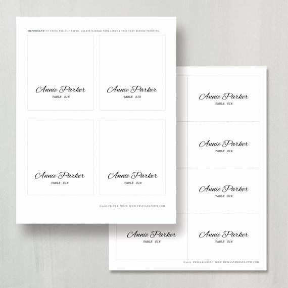 Place Card Templates for Mac Luxury Printable Place Card Template Instant Download Calligraphy