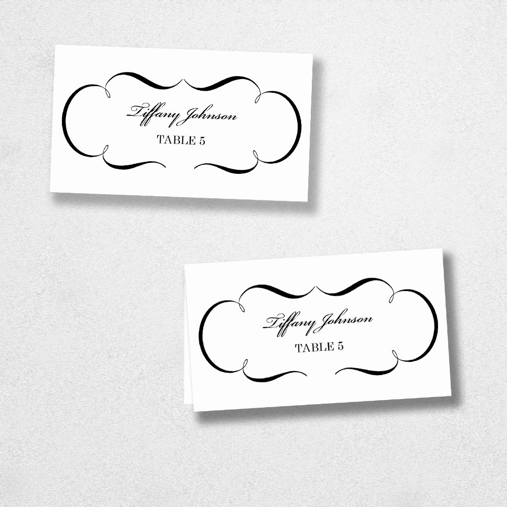 Place Card Templates for Mac New Avery Place Card Template Instant Download Escort Card