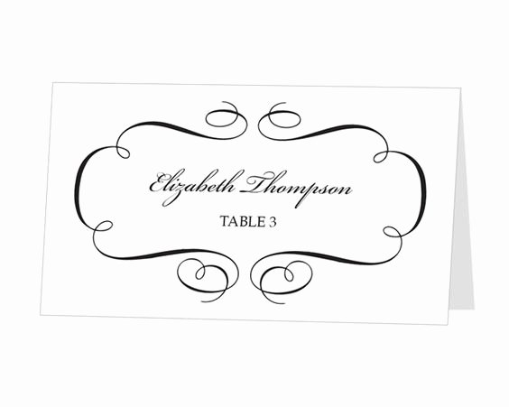 Place Card Templates for Mac Unique Avery Place Card Template Instant Download Escort Card