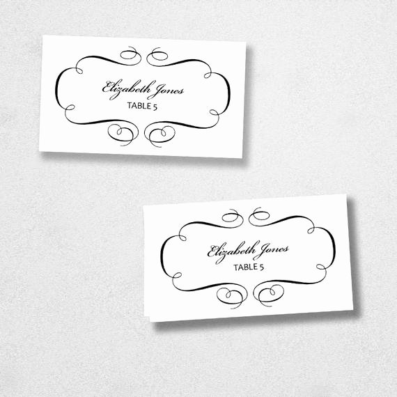 Place Card Templates for Word Awesome Avery Place Card Template Instant Download Escort Card