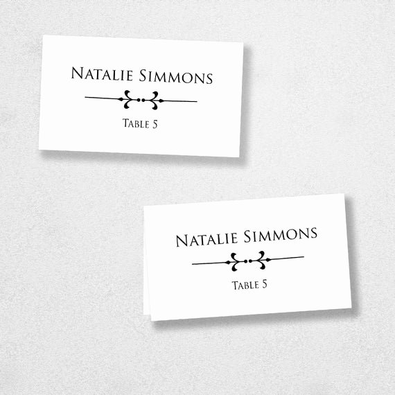 Place Card Templates for Word Best Of Printable Place Card Template Instant Download Escort Card