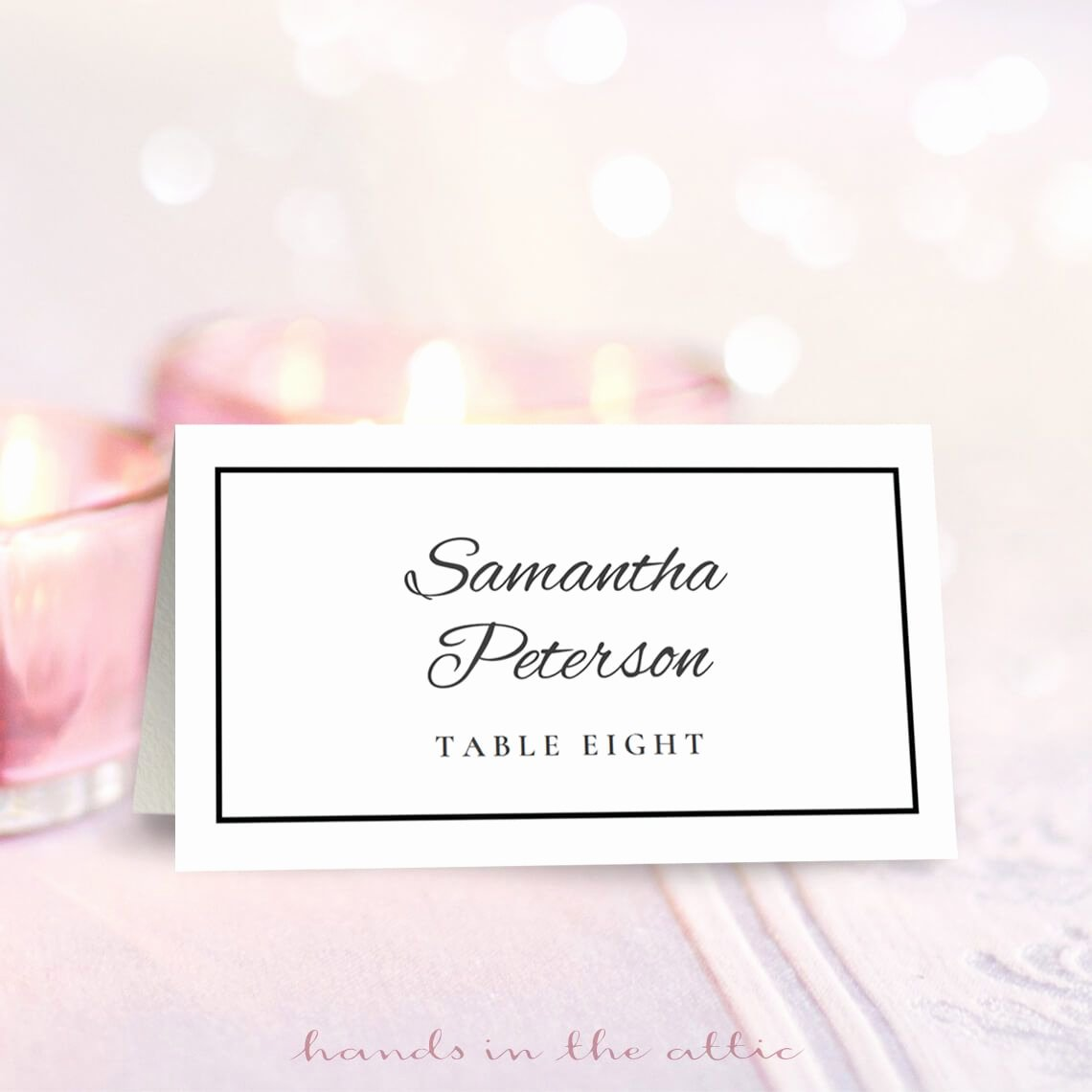 Place Card Templates for Word Elegant Wedding Place Card Template Free Download