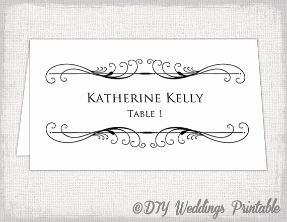 Place Card Templates for Word Luxury Printable Place Card Template Tent Name Card Templates