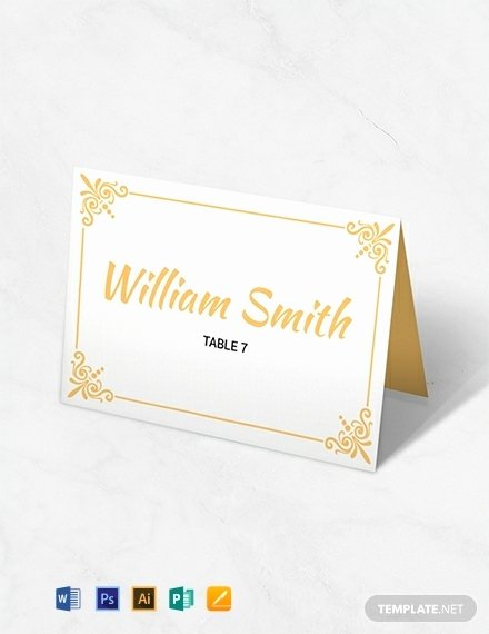 how to create wedding table place card