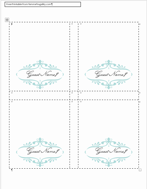 Place Card Templates Free Awesome How to Make Your Own Place Cards for Free with Word and