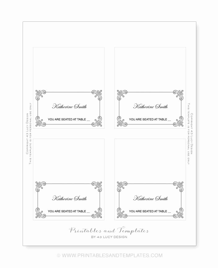 Place Card Templates Free Best Of Place Card Template 6 Per Sheet Icebergcoworking