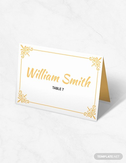 Place Card Templates Free Fresh 11 Free Place Card Templates