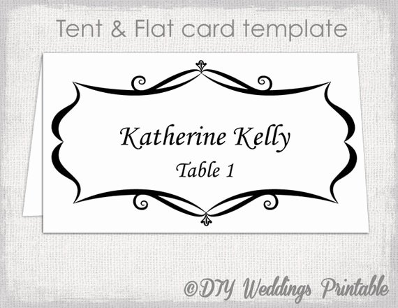 Place Card Templates Free Inspirational Place Card Template Tent and Flat Name Card Templates