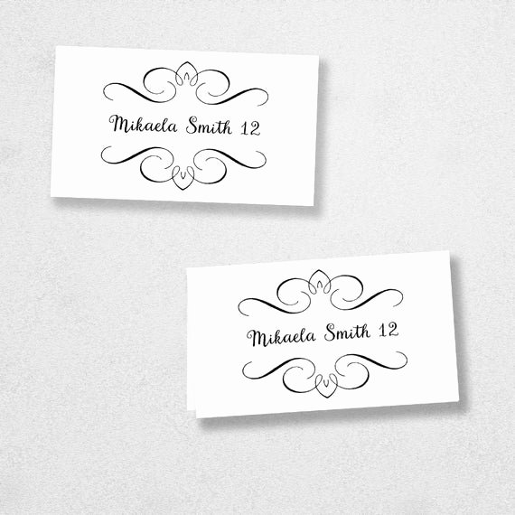 Place Cards Template for Word Awesome Printable Place Card Template Instant Download Escort Card