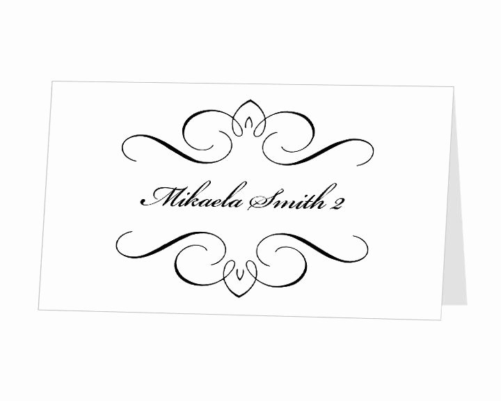 Place Cards Template for Word Awesome Printable Place Card Template Instant Download Escort