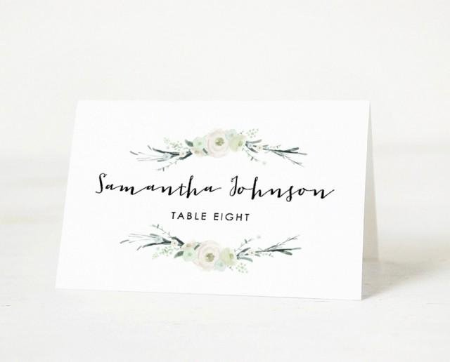 Place Cards Template for Word Awesome Printable Place Card Template Wedding Place Card Name