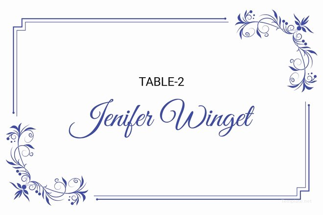 Place Cards Template for Word Elegant 5 Printable Place Card Templates & Designs