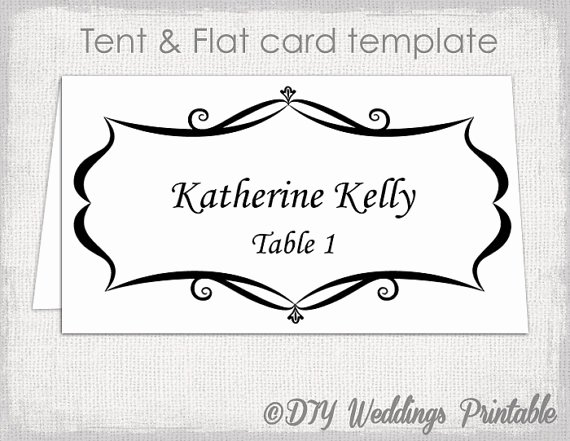 Place Cards Template for Word Elegant Place Card Template Tent and Flat Name Card Templates