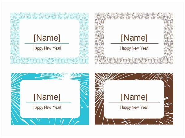 Place Cards Template for Word Lovely Free 6 Place Card Templates In Word