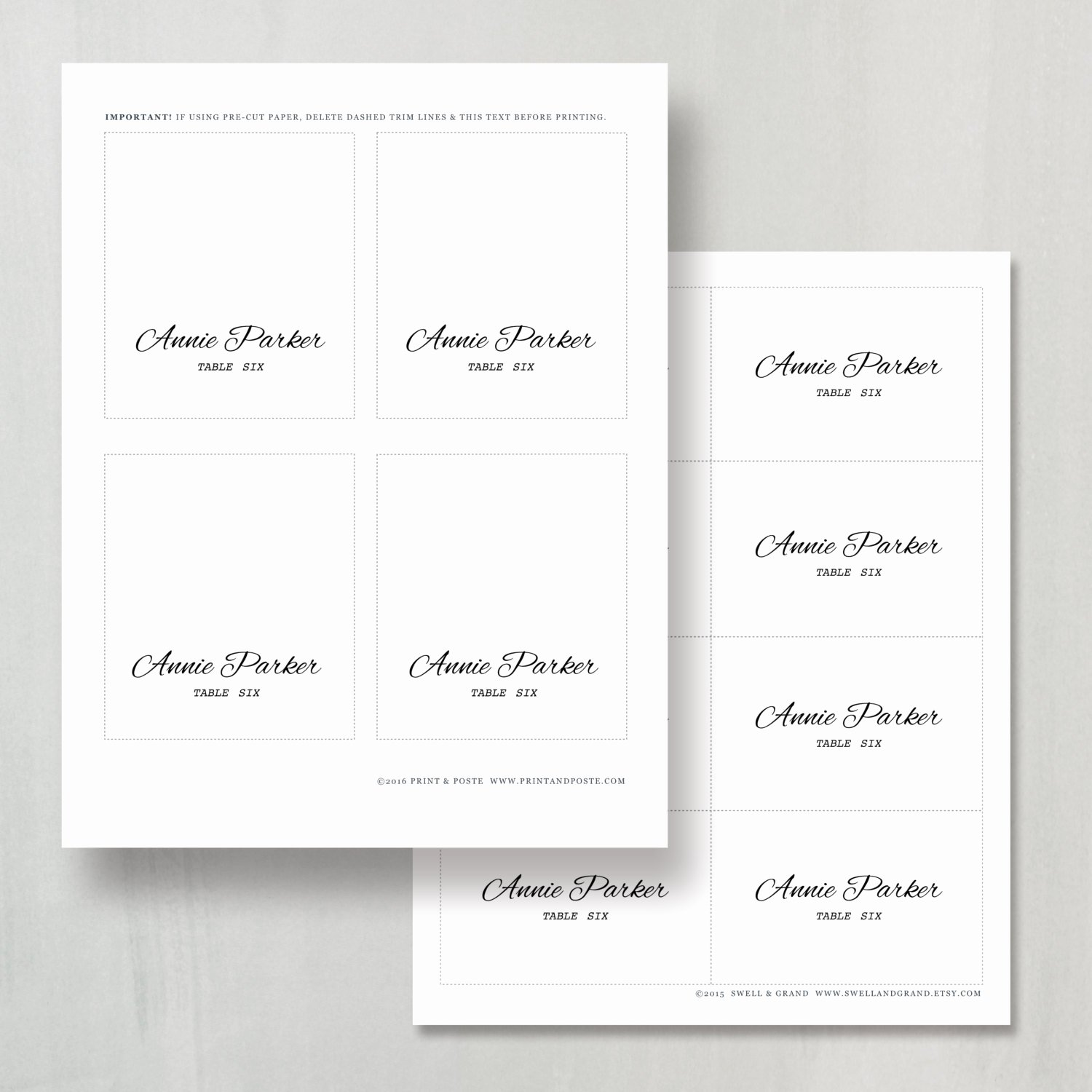 Place Cards Template for Word Lovely Printable Place Card Template Instant Download Calligraphy