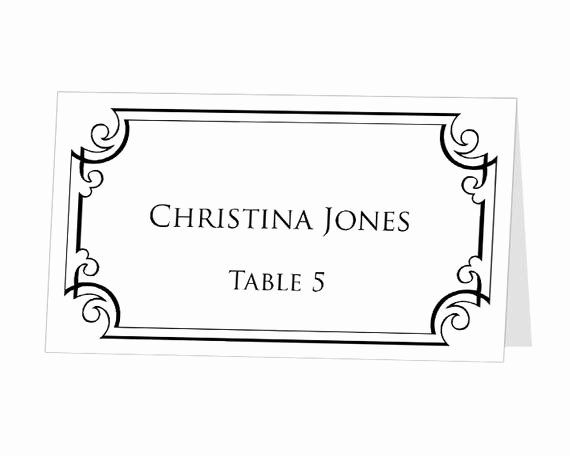 Place Cards Template for Word Lovely Table Number Template Printable Instant Download for by 43lucy