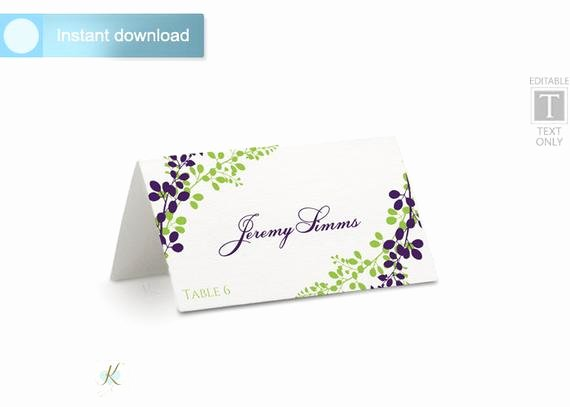 Place Cards Template for Word Lovely Wedding Place Card Template Tent Download by Karmakweddings