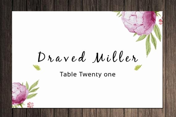 Place Cards Template for Word Luxury Items Similar to Printable Wedding Place Cards Template