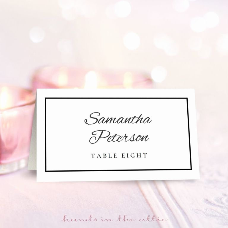Place Cards Template for Word Unique 9 Sets Of Wedding Place Card Templates