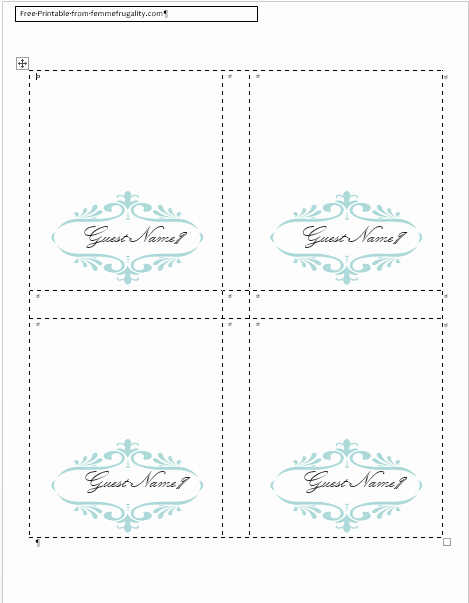 Place Cards Template Free Beautiful How to Make Your Own Place Cards for Free with Word and