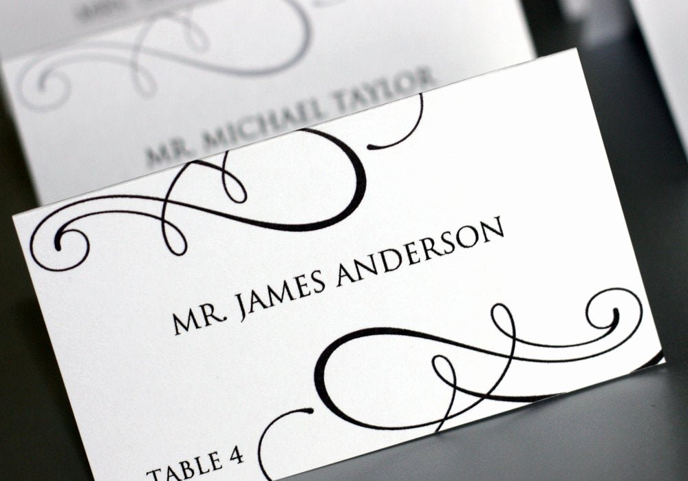 Place Cards Template Free Luxury Editable Place Card Template Printable Diy