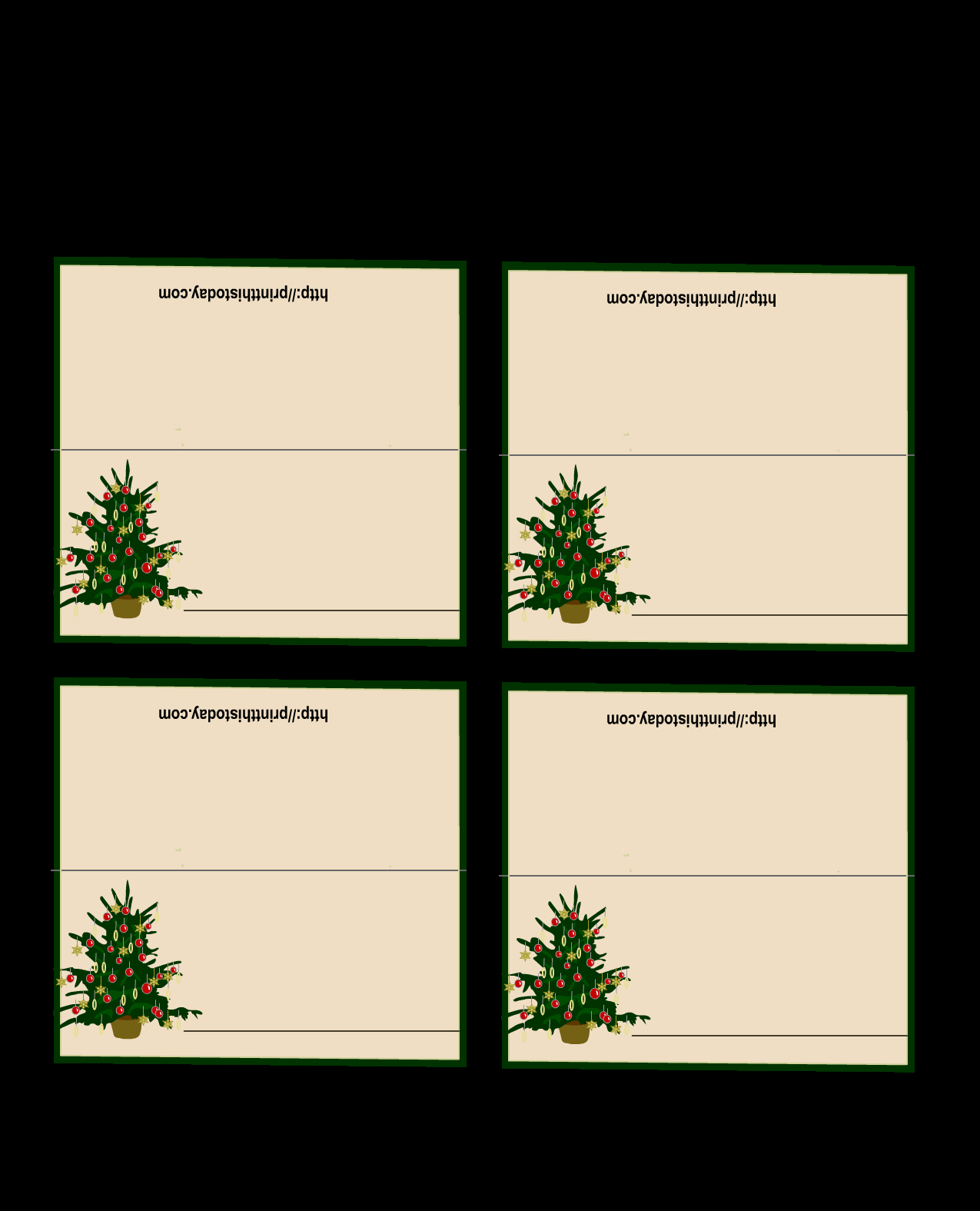 Place Cards Template Free Luxury Free Printable Christmas Tree Place Cards