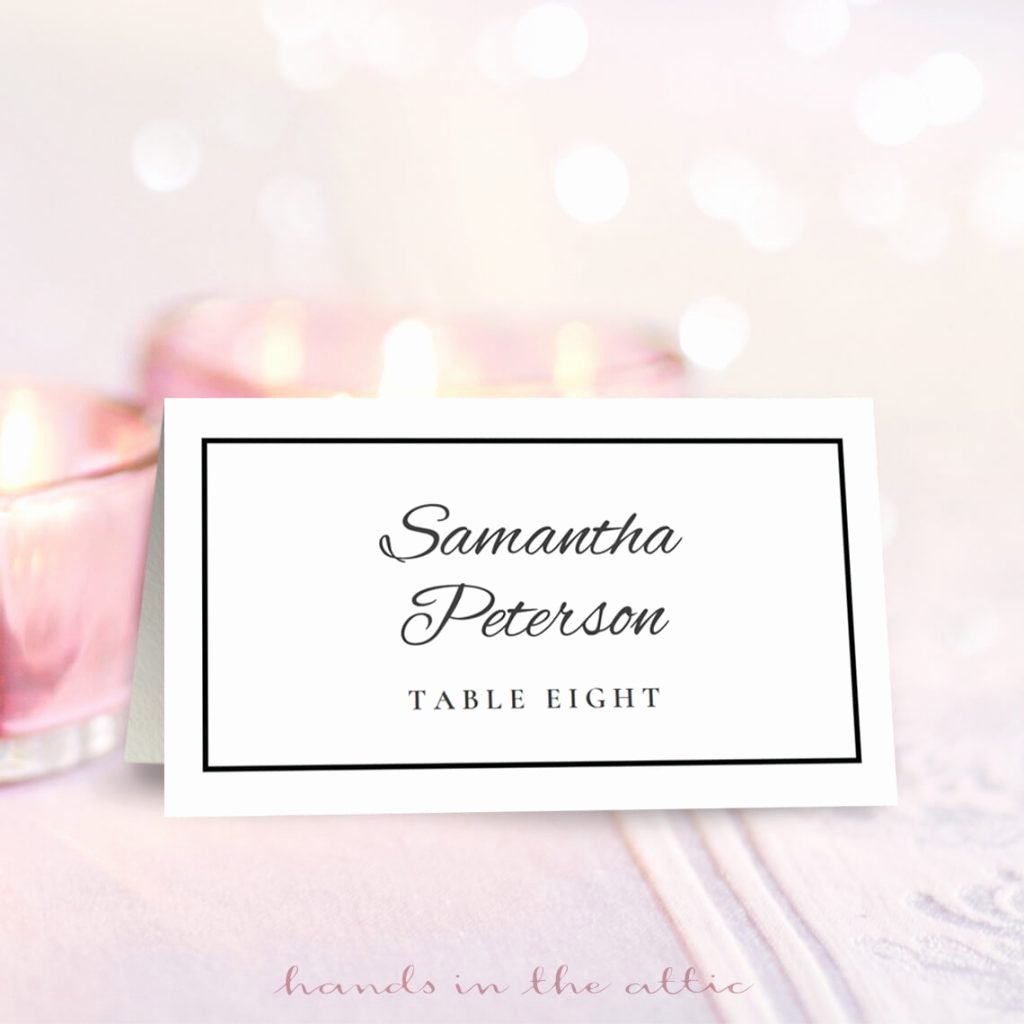 Place Cards Template Free Luxury Wedding Place Card Template Free Download