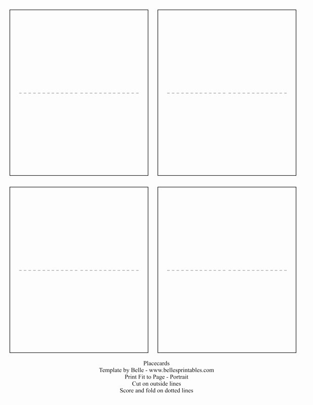 Place Cards Template Free Unique Free Printable Blank Place Card Template