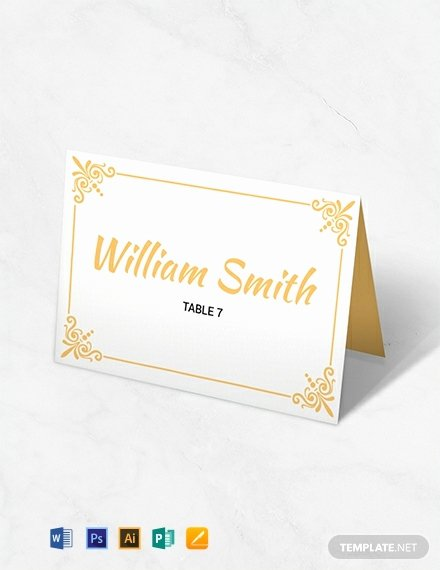 Placement Card Templates Free Beautiful Free Printable Wedding Table Card Template Download 720