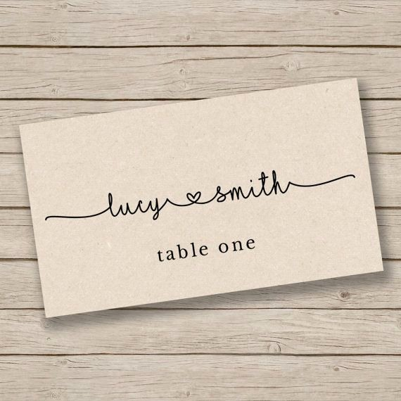 Placement Card Templates Free Best Of Best 25 Place Card Template Ideas On Pinterest