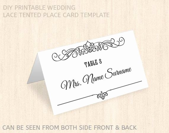 Placement Card Templates Free Elegant Items Similar to Printable Wedding Place Card Template