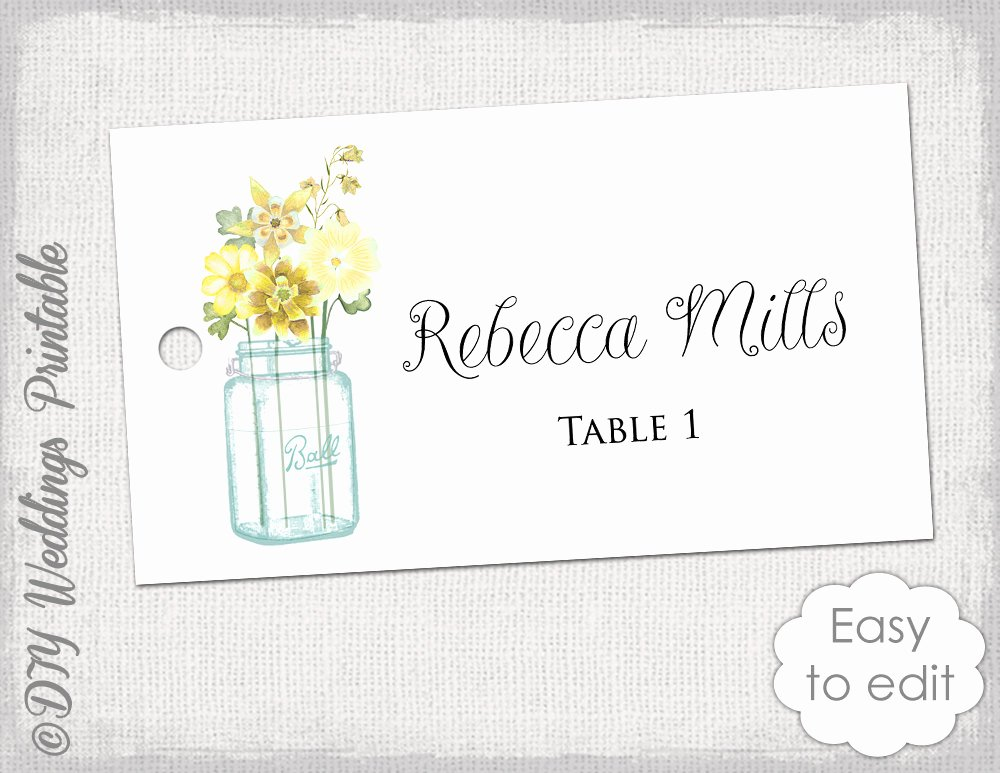 Placement Card Templates Free Elegant Place Card Template Printable Wedding Name Cards Mason