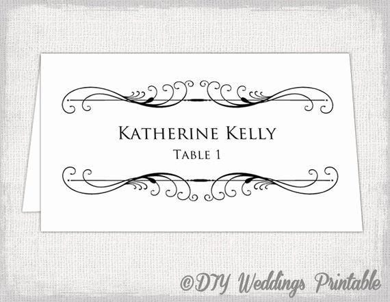 Placement Card Templates Free New Printable Place Card Template Tent Name Card Templates